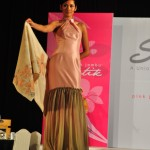 The shawls were complemented by Calvin Thoo dresses at the launch.