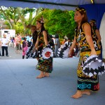 Dancers from Sarawak performing the 'ulu dance'.