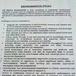 "IOI Group's environmental policy. Point number six reads: ""We are committed to … avoid unnecessary use of hazardous materials … and take all reasonable steps to protect human health and the environment when such materials must be used, stored and disposed of."""