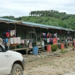 The living quarters of IOI Pelita Plantation's Indonesian workers.