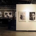 Close-up photographs of artists; from left: Ahmad Shukri Mohamed, Chong Siew Ying, Zakii Anwar, Jalaini Abu Hassan.